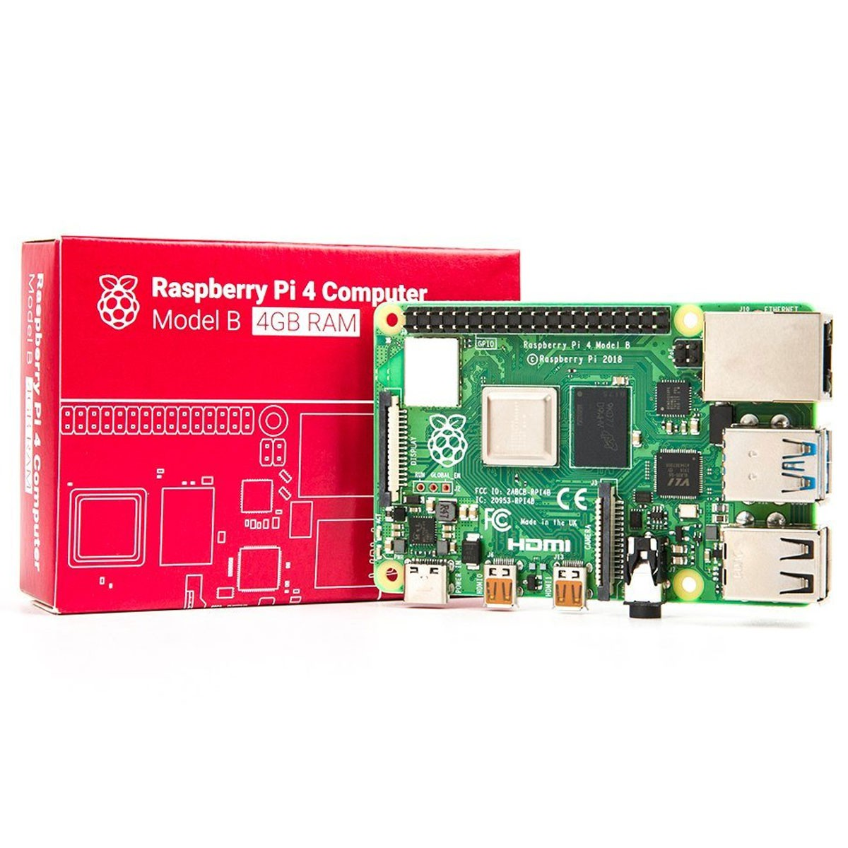 Placa Raspberry Pi 4 Pi4 Model B 4gb (ddr4)