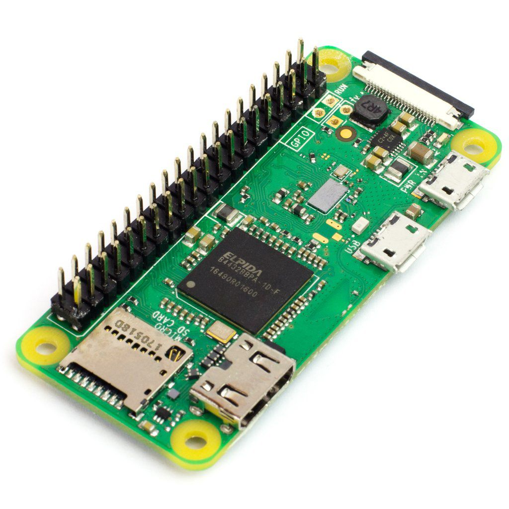 Placa Raspberry Pi Zero W com Wifi e Bluetooth 4.0 | 1Ghz | 512 Mb de RAM DDR2 | Saída Mini HDMI