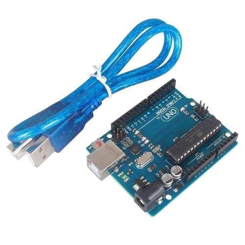 Placa Uno R3 DIP Atmega328 com Cabo USB para Arduino