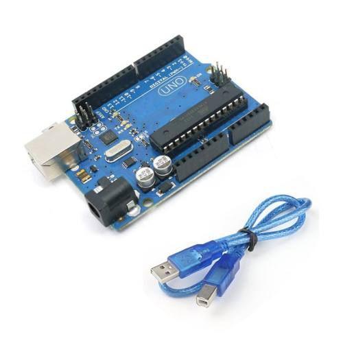 Placa Uno R3 DIP Atmega328 com Cabo USB - Compatível com Arduino