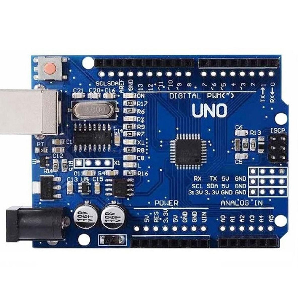 Placa Uno SMD R3 Atmega328 Sem Cabo Compatível com Arduino