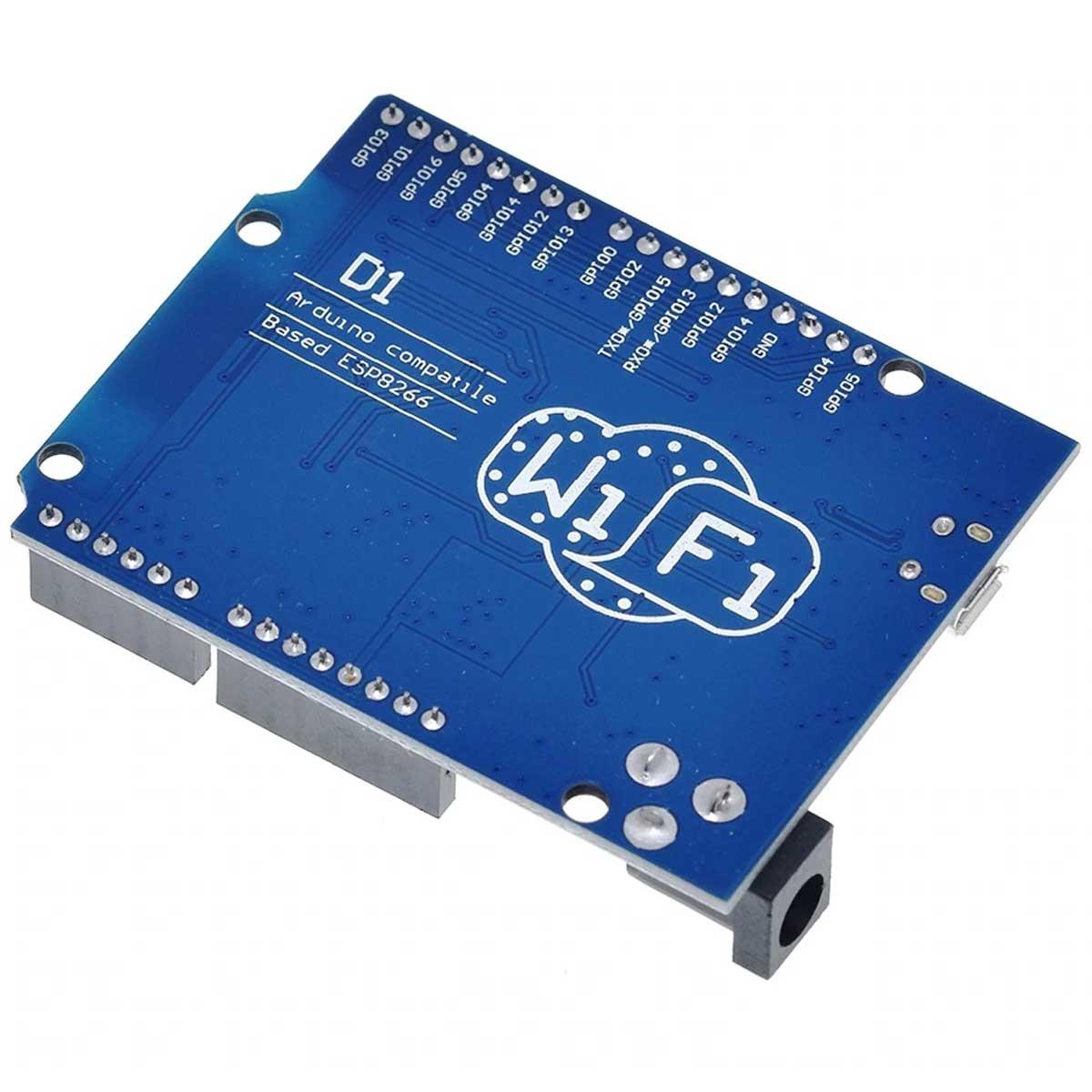 Placa WeMos D1 R2 Wifi ESP8266 compatível com Arduino e ESP8266 + Cabo
