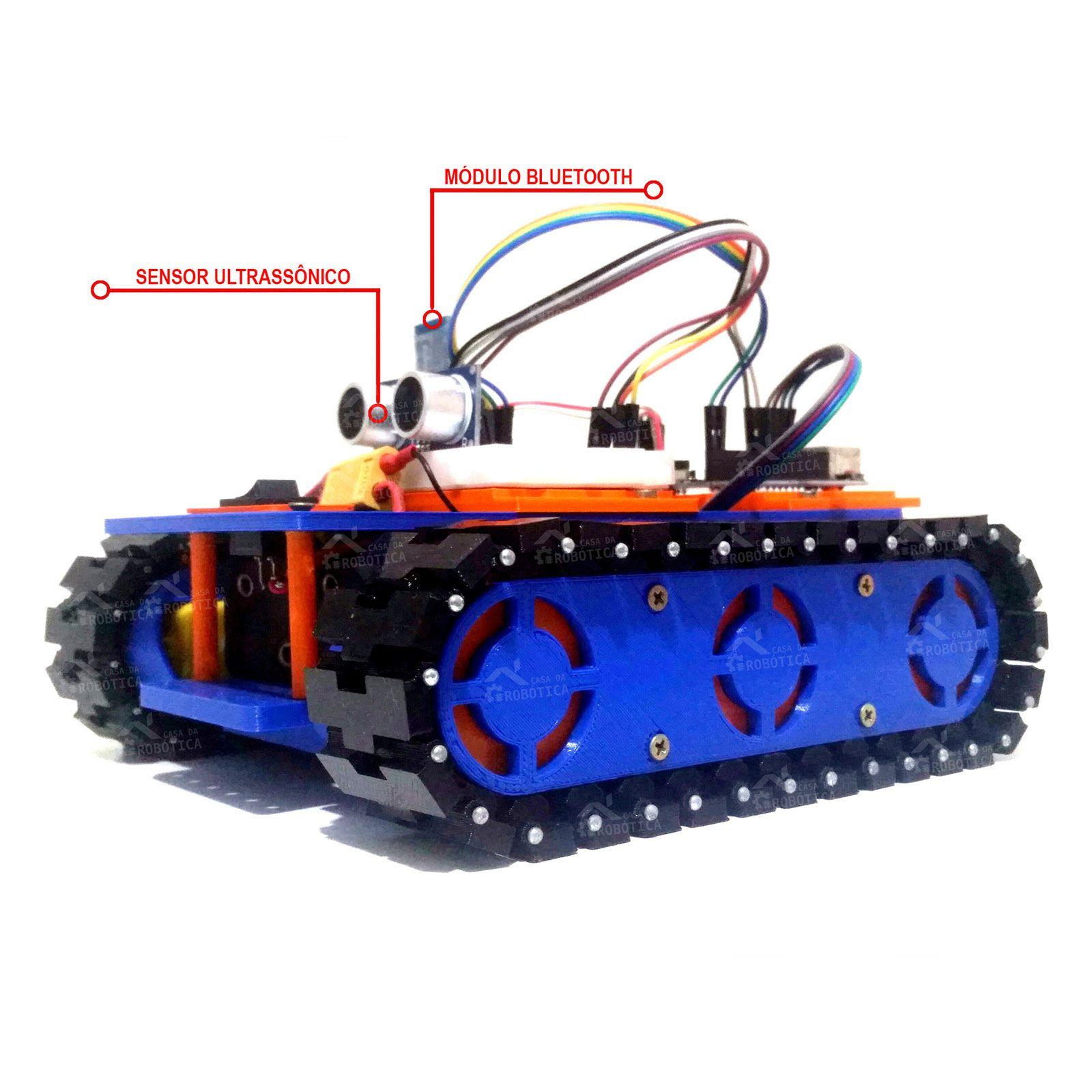 Plataforma Robótica Educacional Tank / Esteira Com Arduino