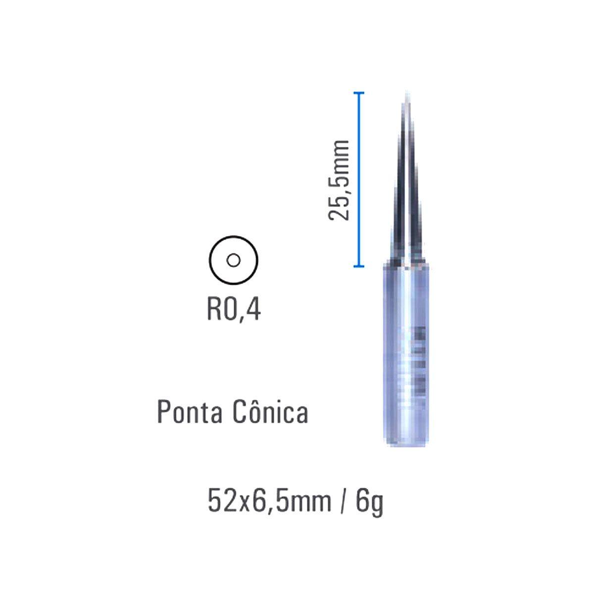 Ponta Cônica MTLB 0,4mm Para Estação de Solda - Hikari - 21J047