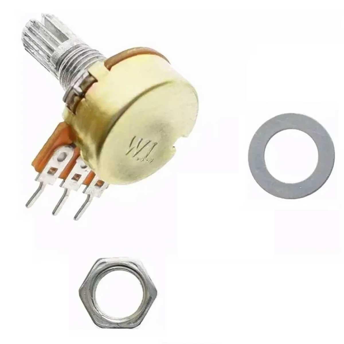 Potenciômetro 10k Linear Estriado 15 mm WH148 B10K