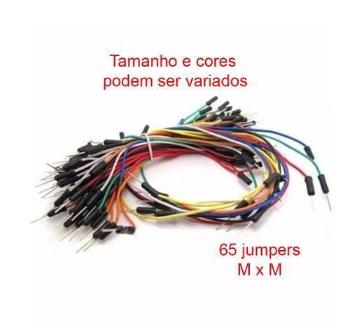 Protoboard 830 Furos + 65 fios / Jumpers macho x macho