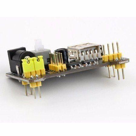 Protoboard 830 Furos + 65 fios / Jumpers macho x macho + Fonte 9v + Fonte para Protoboard