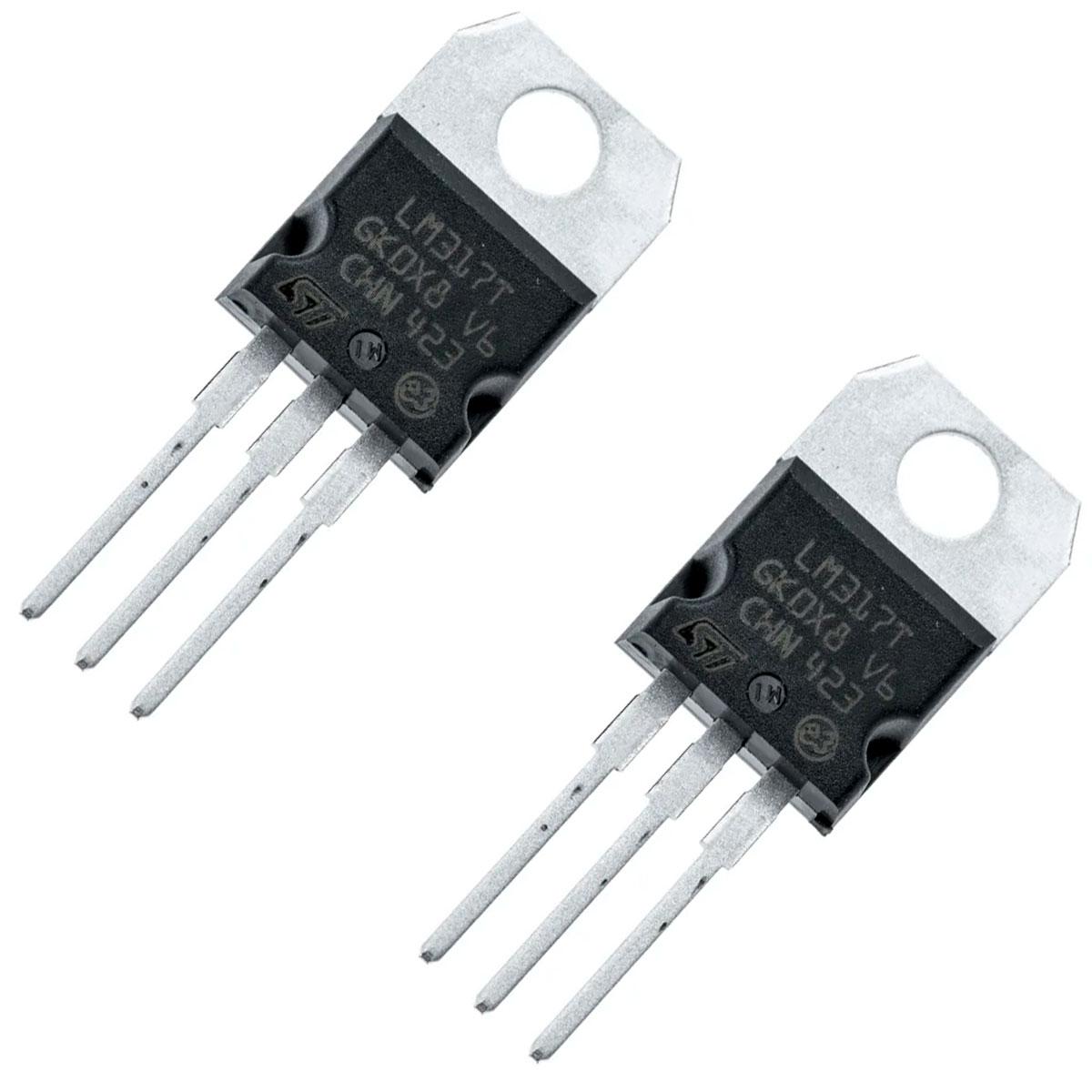 2x Regulador de Tensão LM317T 1,2 V a 37 V - 1,5 A