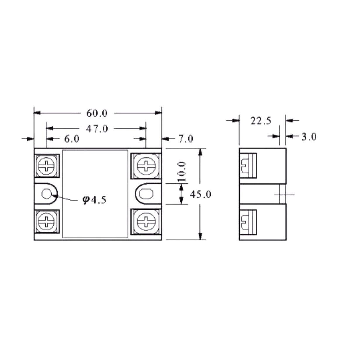 Relé de Estado Sólido SSR 3-32VDC 40A
