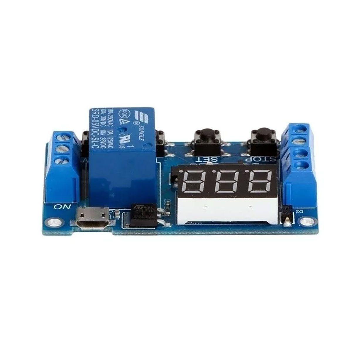 Relé Temporizador Digital Ajustável Delay Timer para Chocadeira e Usos em Geral