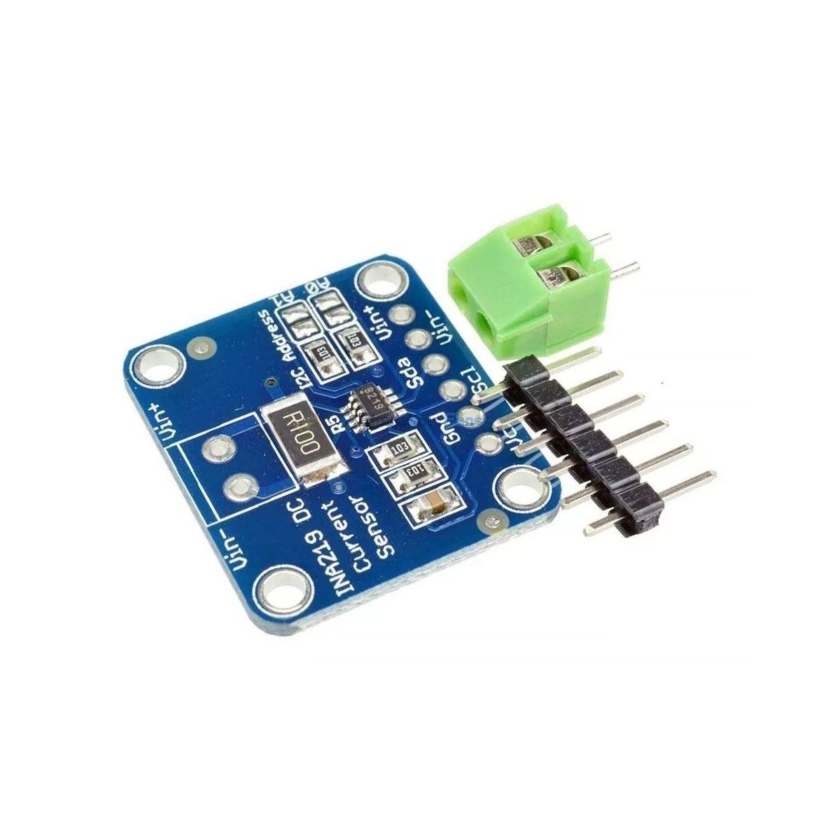 Sensor de Corrente DC Alta Precisão - INA219 Comunicação I2C