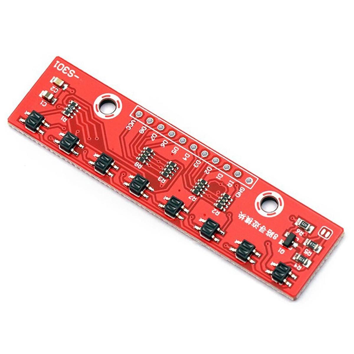 Sensor de Refletância Digital Similar QTR-8RC com 8 Sensores Infravermelhos de Linha