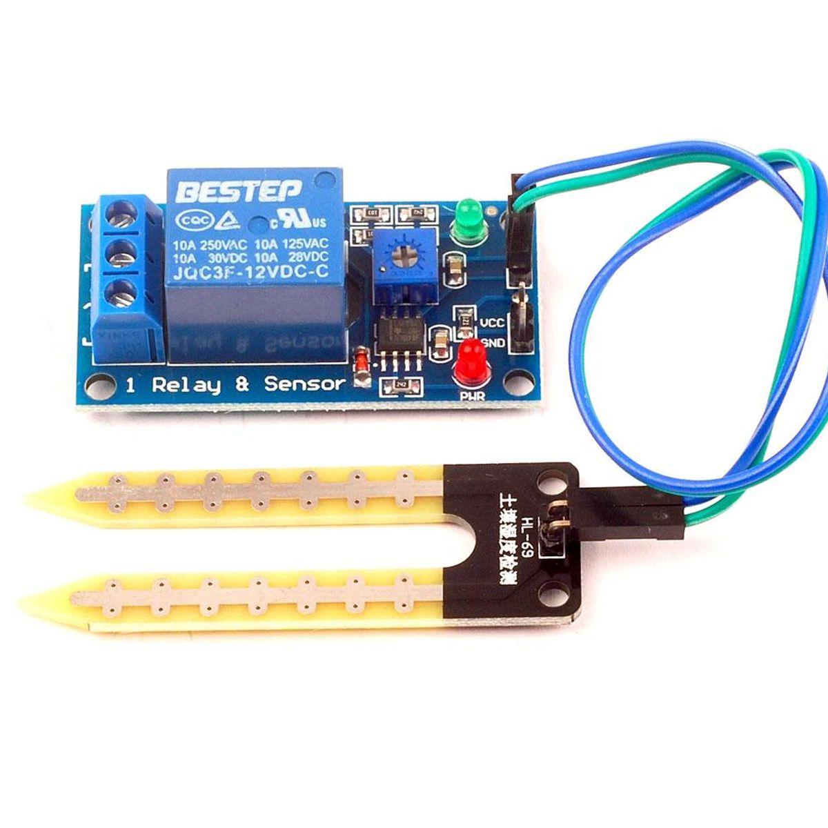 Sensor de Umidade do Solo para Horta com Acionamento Automático de Relé 12v