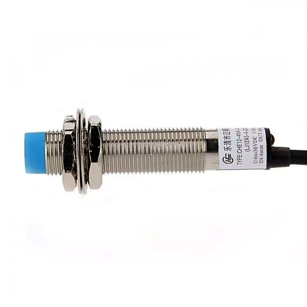 Sensor Indutivo NPN de Proximidade LJ12A3-4-Z/BX - Normalmente Aberto