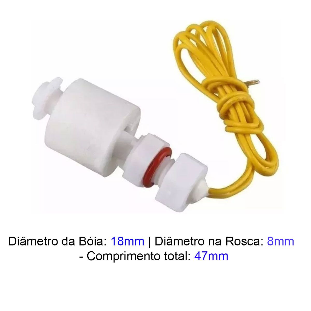 Sensor Nivel de Água Reto Tipo Bóia 18mm