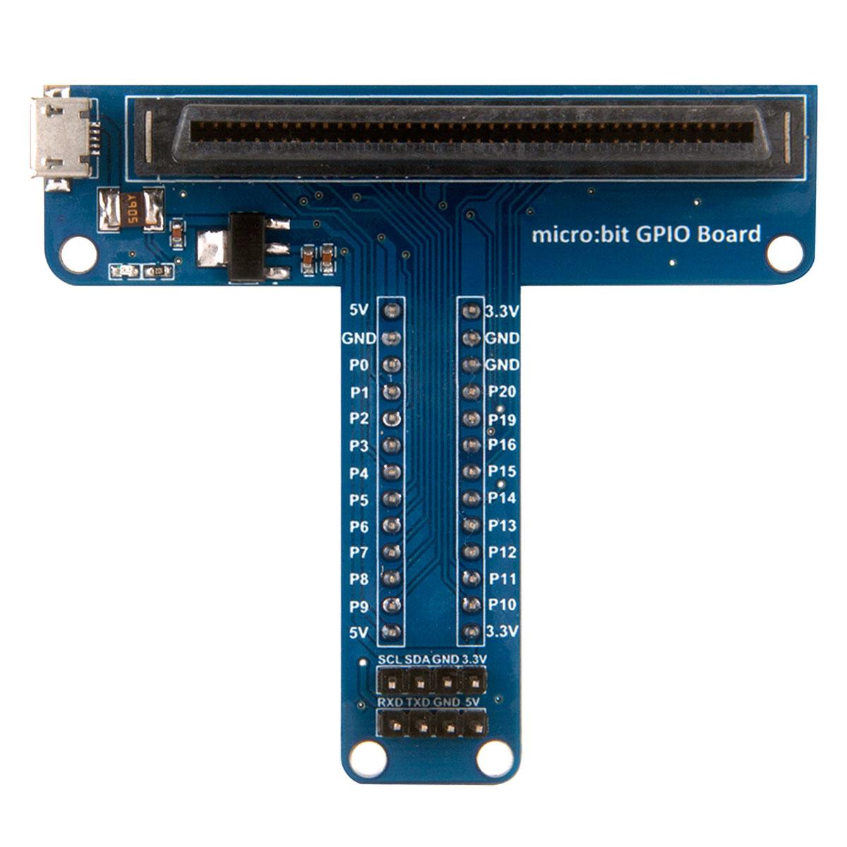 Shield adaptador expansor para conectar Placa BBC Microbit Micro:bit na Protoboard