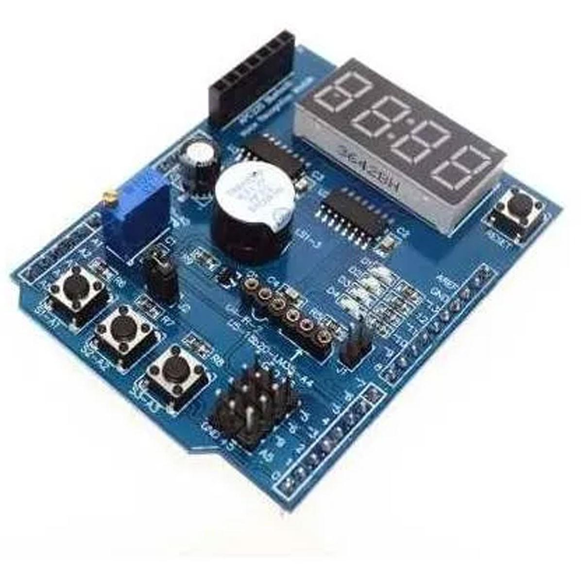Shield de Aprendizado Eletrônico Multifunção para Leigos - Compatível com Arduino