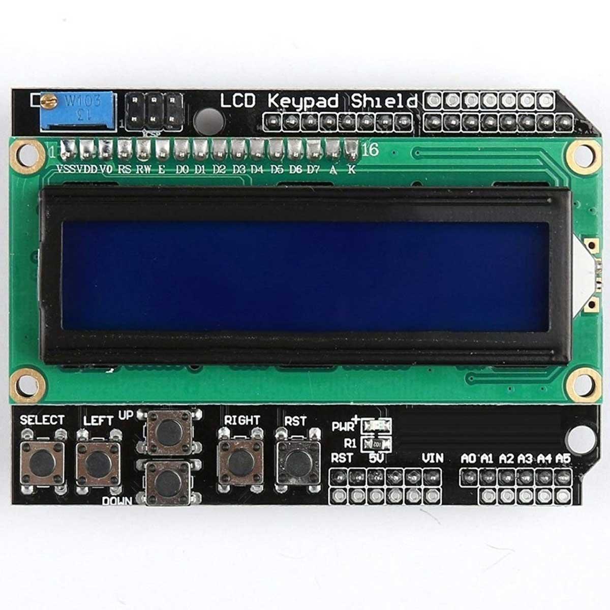 Shield Display 16x02 LCD Keypad com Teclado