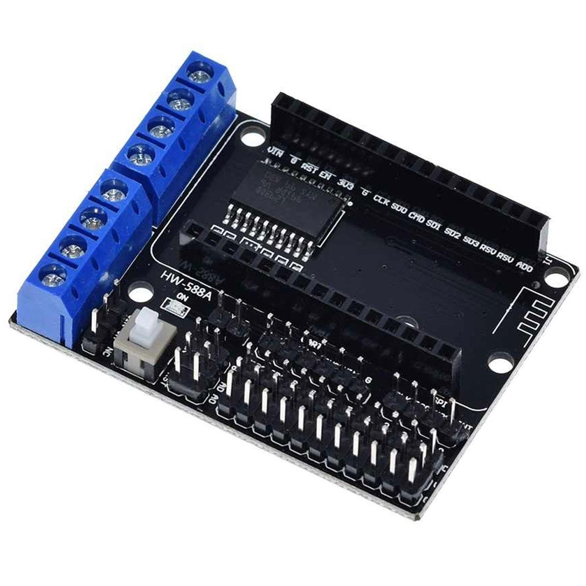 Shield Driver Motor L293D p/ Nodemcu com Chip CP2102
