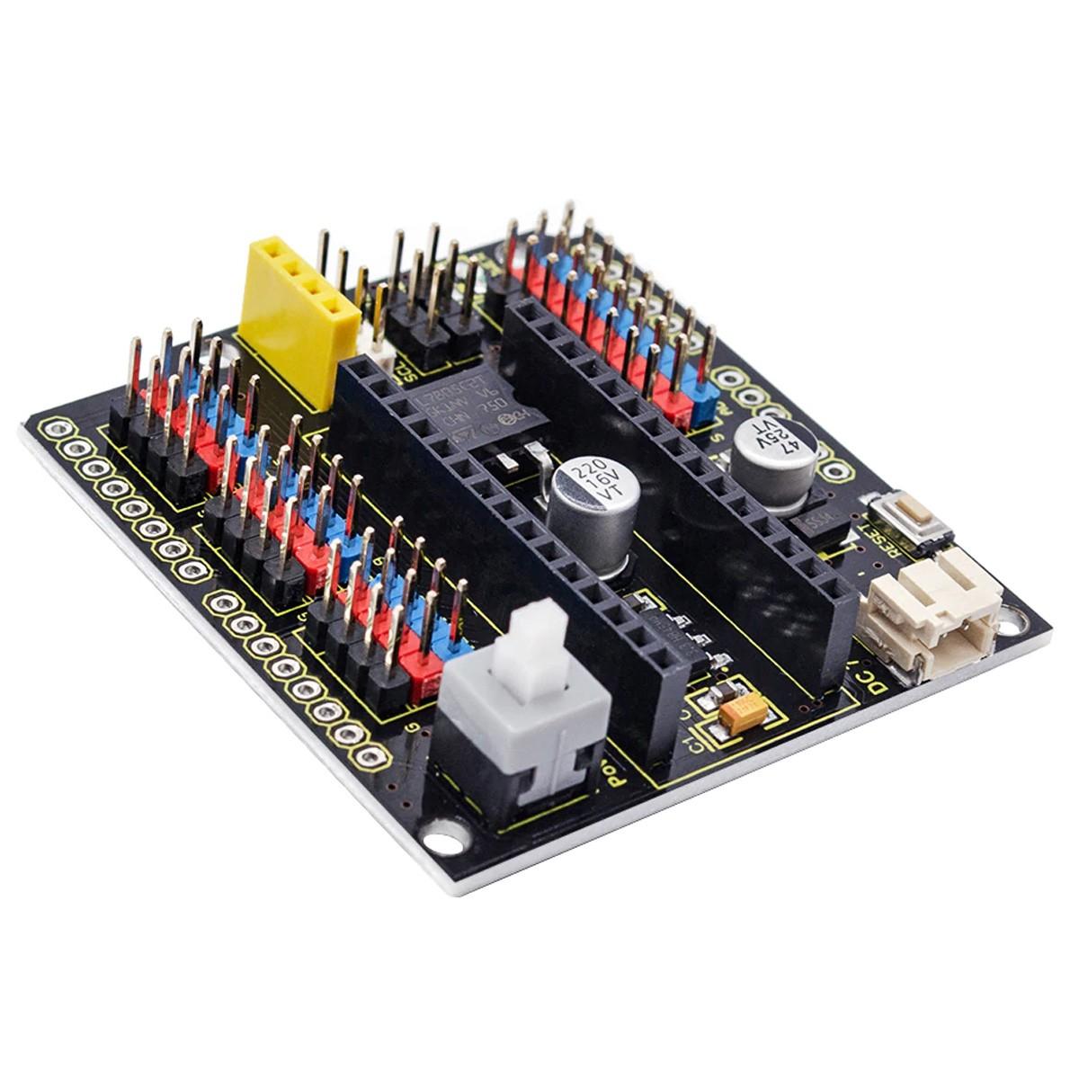 Shield placa de Alimentação para Arduino Nano com botão Liga / Desliga