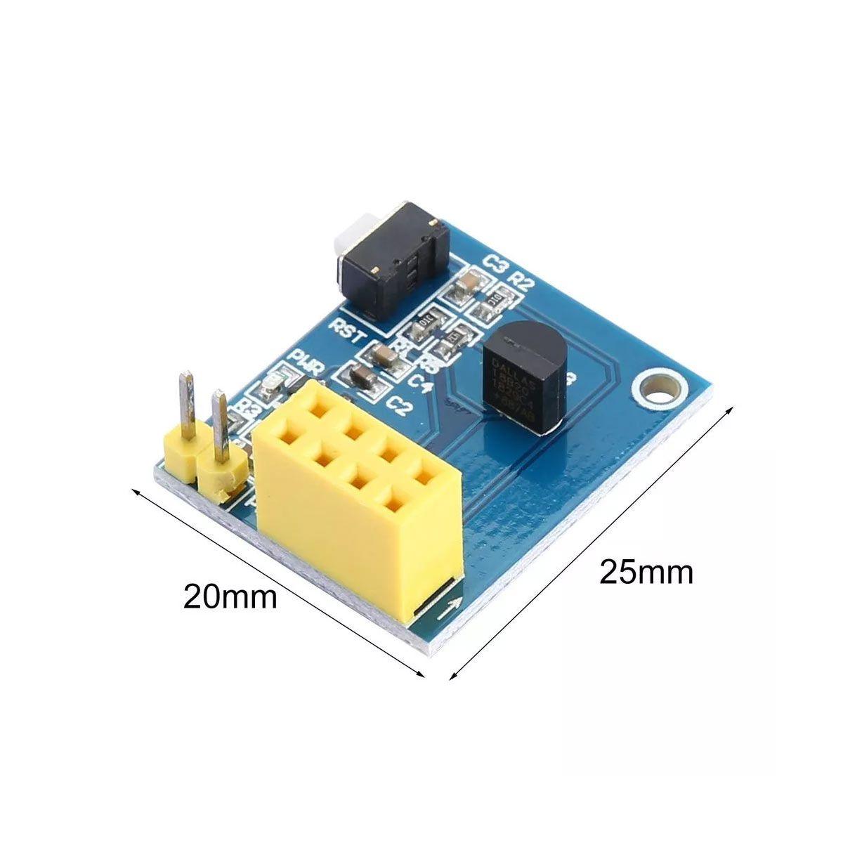 Shield Sensor De Temperatura Ds18b20 para Esp8266 Esp-01 Esp-01s