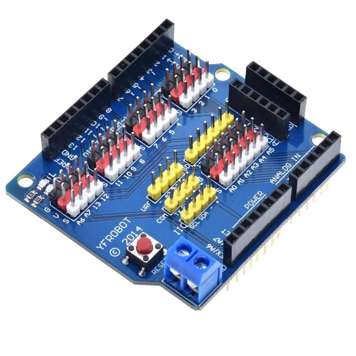 Shield Sensor V5 / Placa de Expansão para Placa Uno