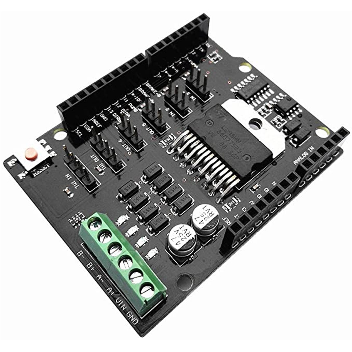 Shield Uno, Mega Ponte H / Driver Controlador para Motor - L298NH