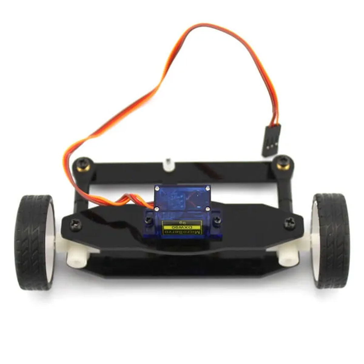 Sistema de Movimentação Dianteiro com Rodas e Servo Motor ZX2
