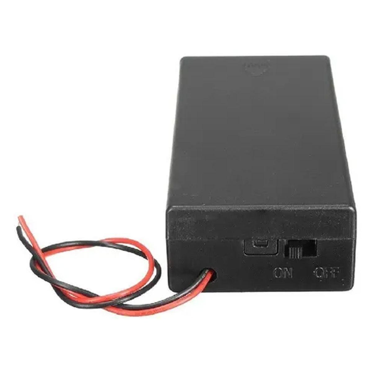 Suporte / Case para 2 Baterias 18650 com Chave ON/OFF