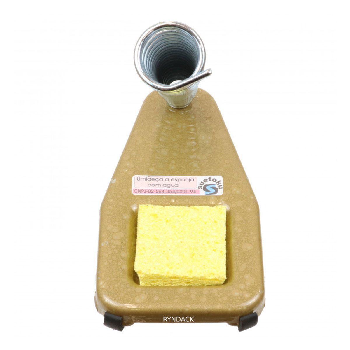 Suporte para Ferro de Solda com Esponja Vegetal + 1 Tubete de Estanho 1mm Cobix
