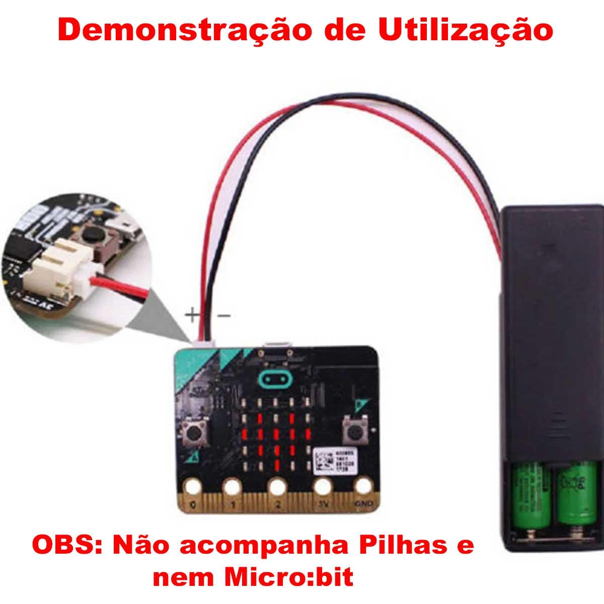 Suporte para Pilha AAA com Conector JST para micro:bit