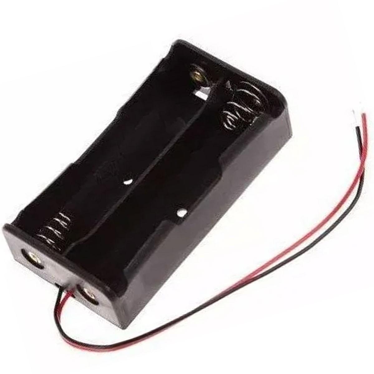 Suporte / Soquete para 2 Baterias 18650