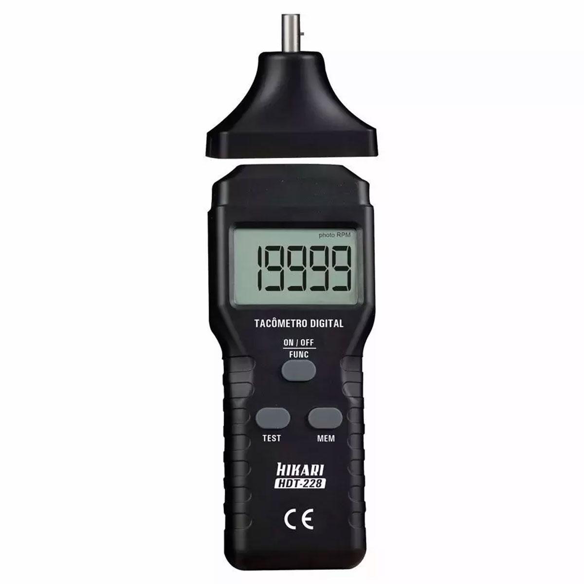 Tacômetro Digital Hikari Contador de RPM -  HDT-228