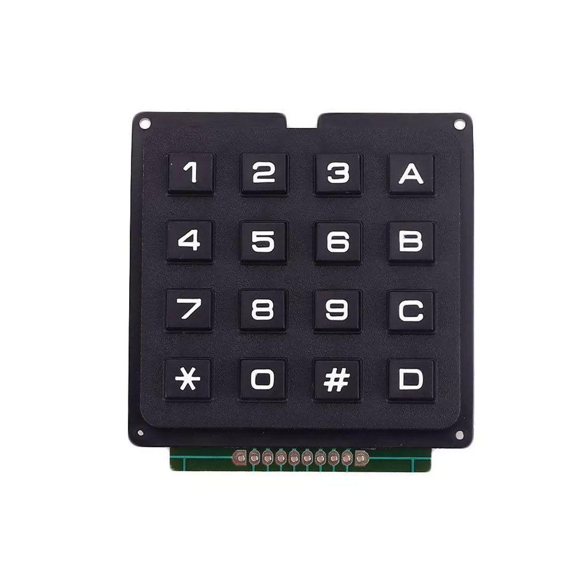 Teclado Matricial 16 Teclas Alfanumérico 4x4