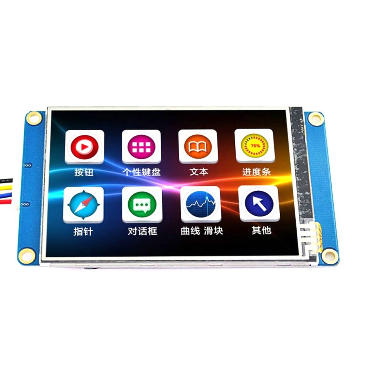 Tela LCD Nextion 4.3 TFT 480x272 Touch Screen para Arduino, Raspberry, Esp