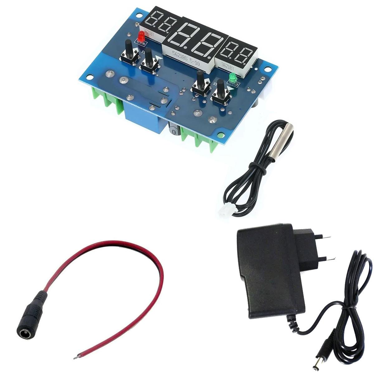 Termostato Digital XH-W1401 Aquário / Temperatura Mínima e Máxima Configurável + Fonte + Rabicho