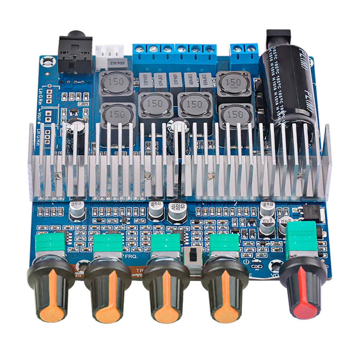 TPA3116 50w * 2 + 100w Bluetooth 5.0 Placa Amplificadora de Áudio de Alta Potência 2.1