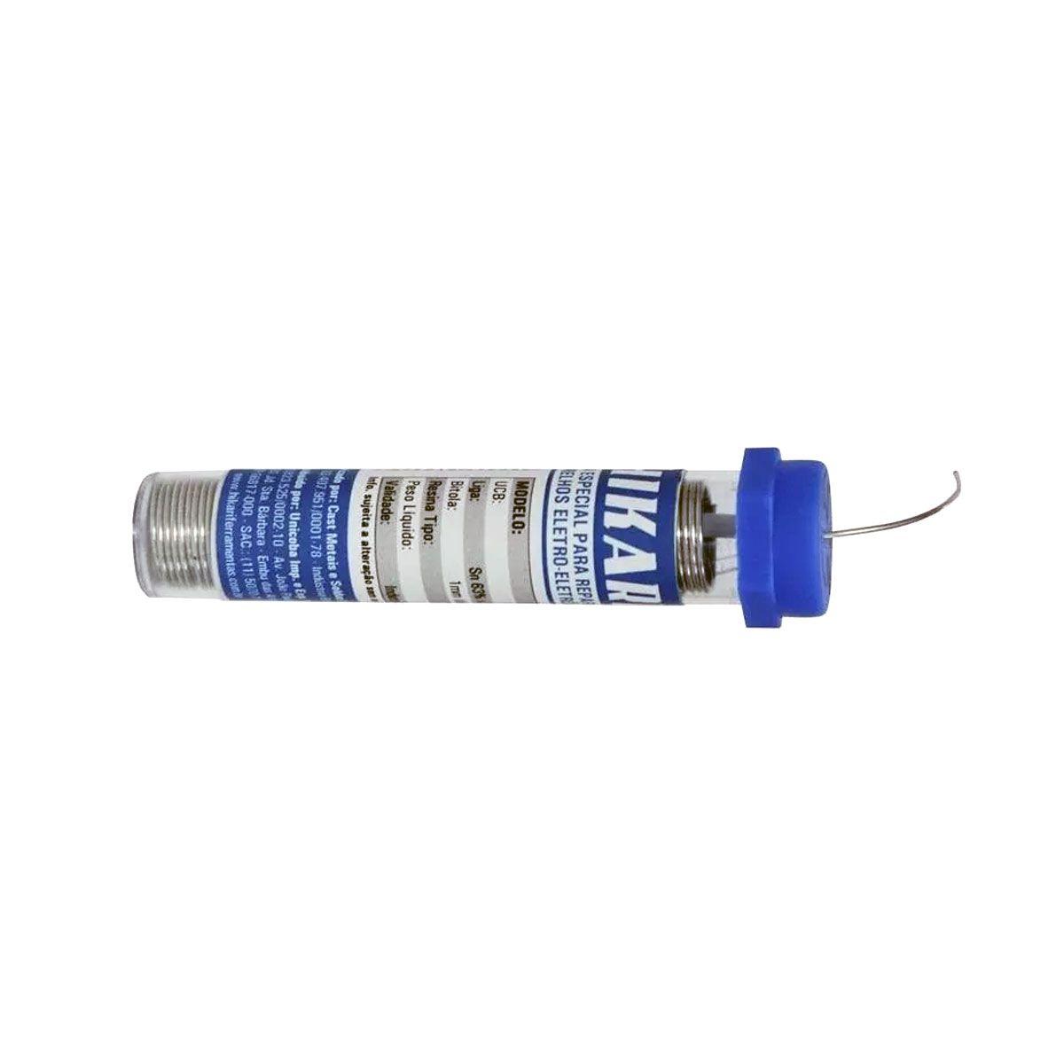 Tubo de Solda / Estanho Hikari 1mm HS-63 - Alta Qualidade