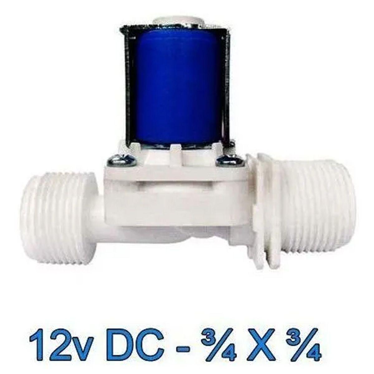 Válvula Solenoide 12v DC 180° (3/4 X 3/4) VA 04