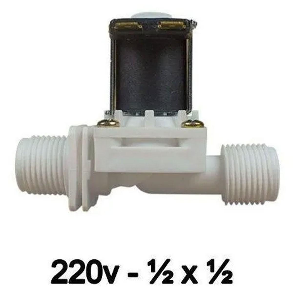 Válvula Solenoide 220v AC 180° (1/2 X 1/2) VA 03