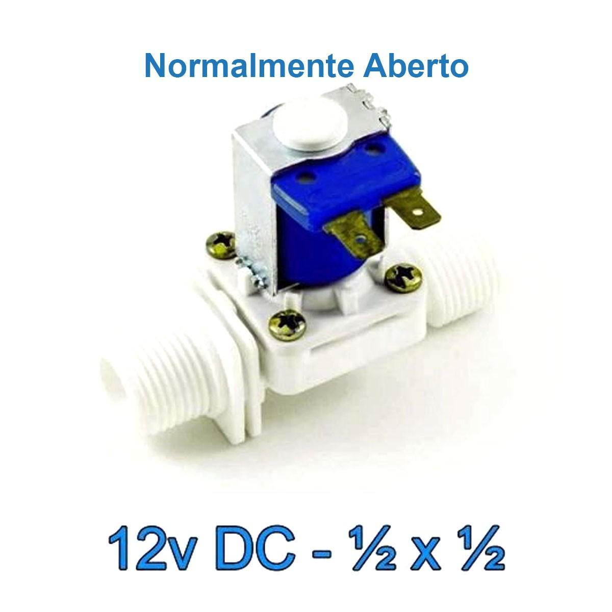 Válvula Solenoide Normalmente Aberta 12v DC 180° (1/2 X 1/2) VA 03