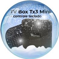 TV Box Tx3 Controle teclado