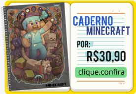 caderno universitário minecraft jogo de bloco