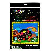Papel Magico Alfanumerico A4 Multicolor com caneta para desenhar