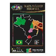 Papel Magico Mapa do brasil A4 Multicolor com caneta para desenhar