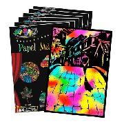 Papel Magico Desenho Livre A4 Multicolor com caneta 30 folhas