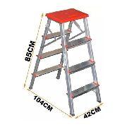 Escada De Alumínio Doméstica 4 Degraus (3 Deg + 1 Plataforma