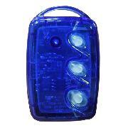 Controle Remoto De Portão Com 3 Teclas Transmissor Azul Tx-3t-b Linear-hcs | Bateria Inclusa