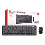 Kit Teclado E Mouse Sem Fio C3 Tech K-w50bk Preto