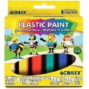Tinta Pva Plástica 6 Cores Acrilex 20ml Cada